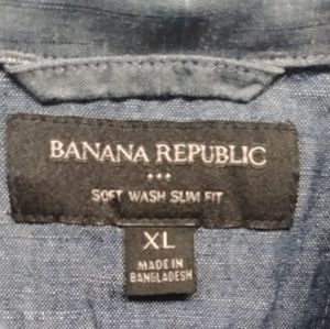 Banana Republic Mens XL Short Sleeve